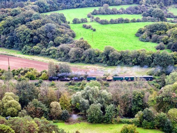 05. Military train on the CFV3V during the 2014 Steam Train Festival.