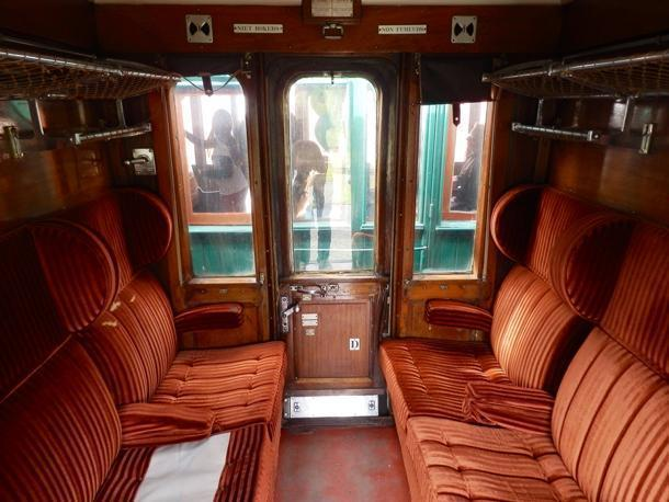 Travelling 1st class on the Three Valley railway.