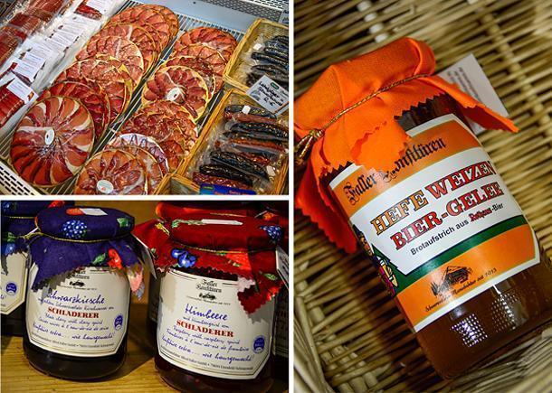 Schinkenstrasse sells plenty of products produced in the Black Forest