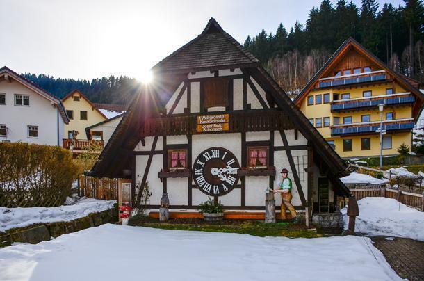 the original world's biggest cuckoo clock, in Schonach, Germany
