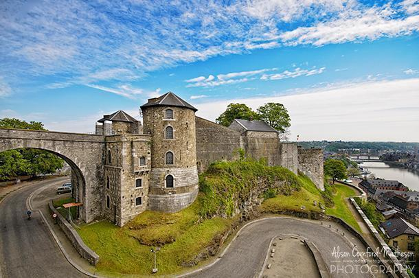 Namur's imposing citadel offers a great view over the Meuse River.