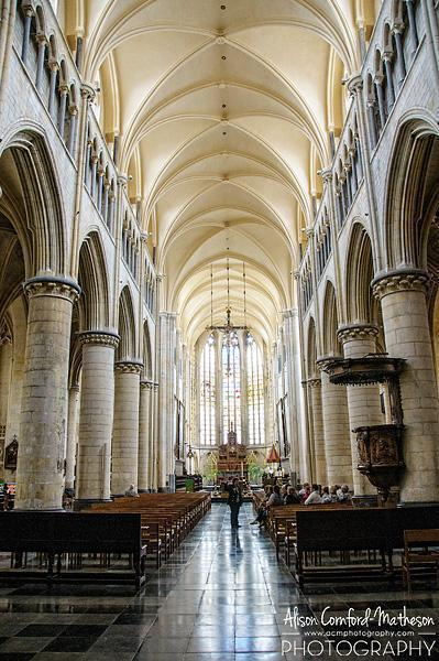 The stunning basillica is at the centre of Tongeren's historic core.