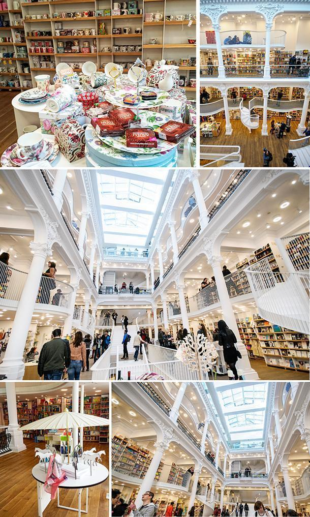 There's plenty to see inside this giant beautiful bookstore