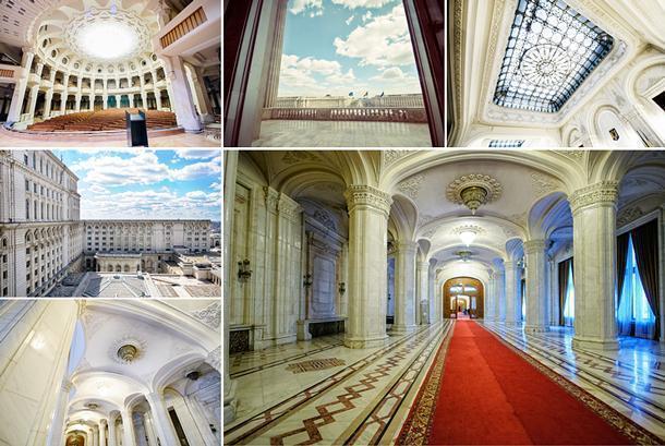 Inside the vast Parliament building