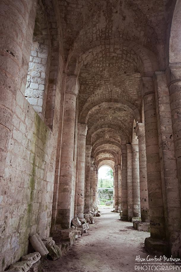 The towering columns remind us of Villers abbey in Wallonia