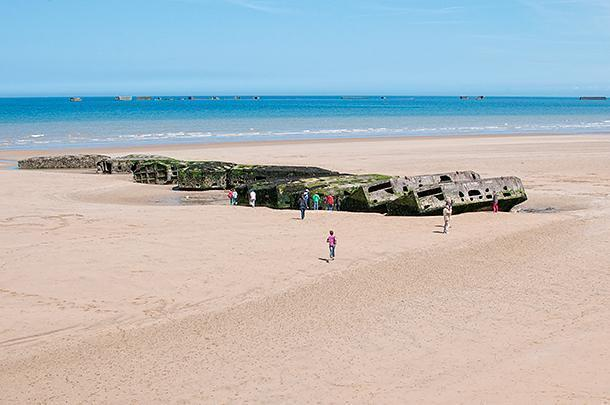 Take some time to walk the beach a see what remains of this impressive temporary structure