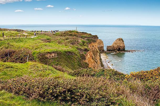 The impressive cliffs of Pointe-du-Hoc
