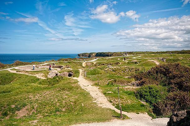 Pointe-du-Hoc is a dramatic landscape and a testament to the soldiers who landed here.