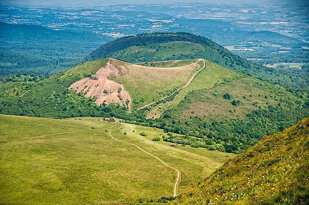 From Puy de Dome it's possible to hike to some of the other volcanoes in the chain
