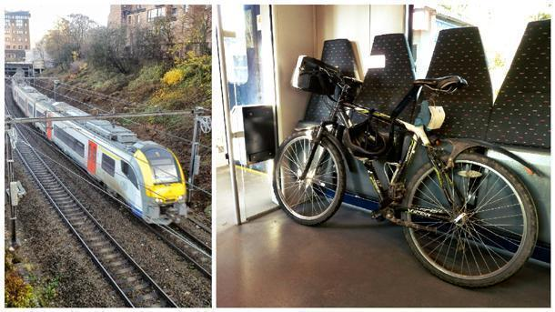 Carrying a bicycle on board a Siemens Desiro EMU