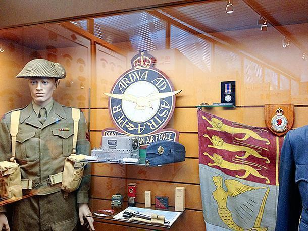 The Canadian exhibit at the Arromanches D-Day Landing Museum