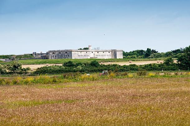 The fort on Ile Madame is the island's most visible feature