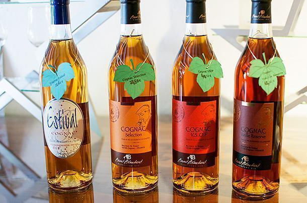 A variety of Brard-Blanchard's Cognacs