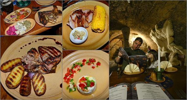 The tasty Catacombs restaurant
