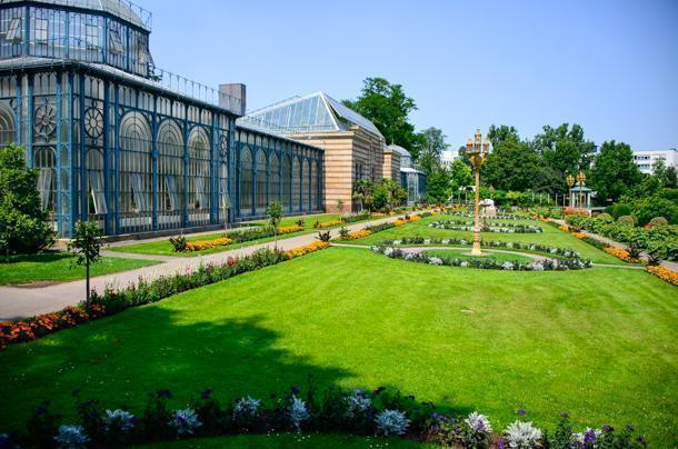 The glasshouse at the Wilhelma Botanical Gardens