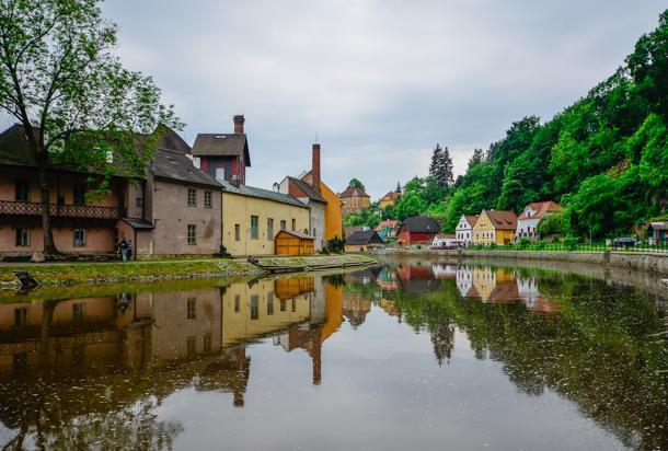 Césky Krumlov is listed by UNESCO