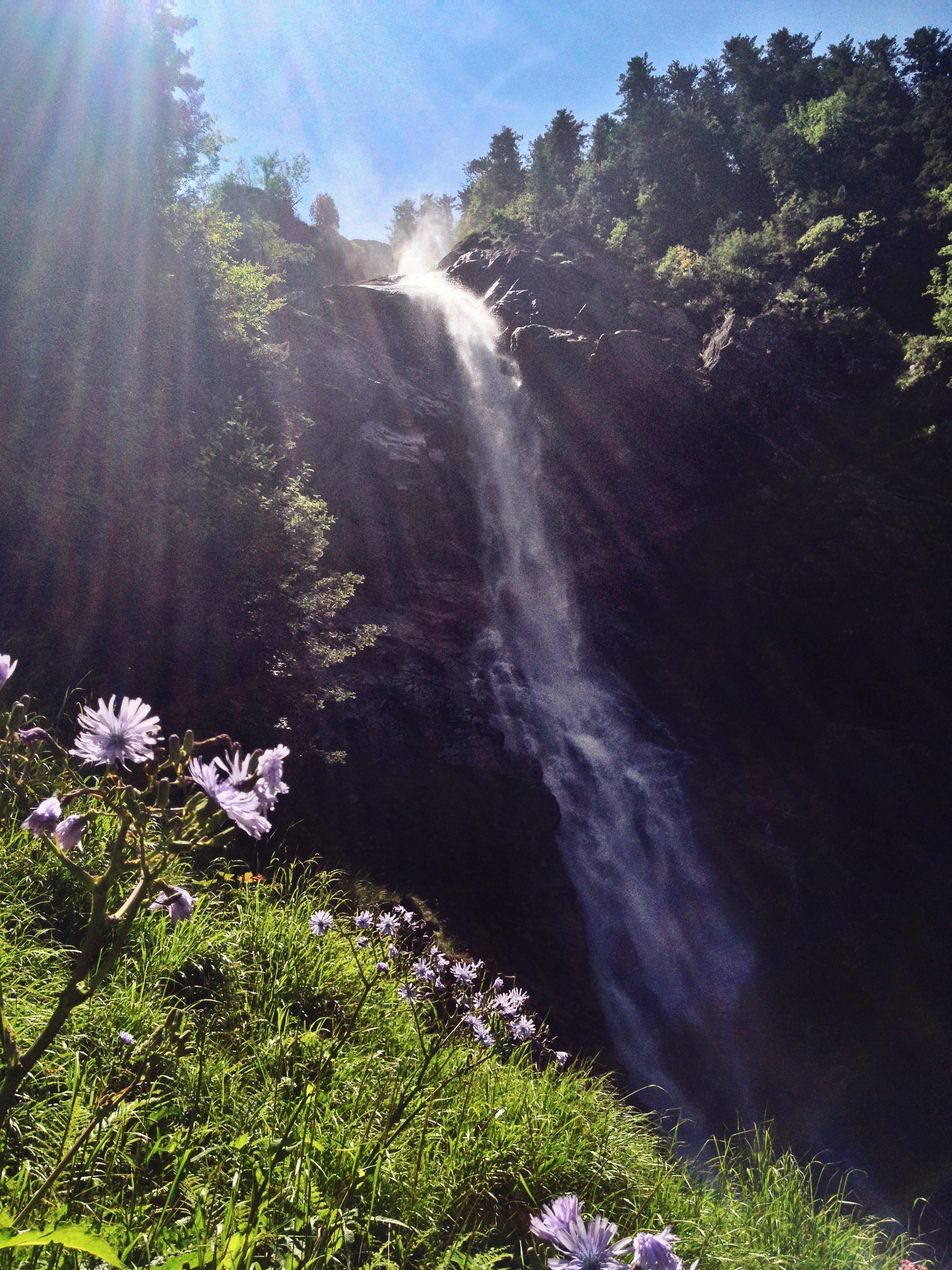 The beautiful Cascade d'Ars (Ars Waterfall). It must be amazing in early spring