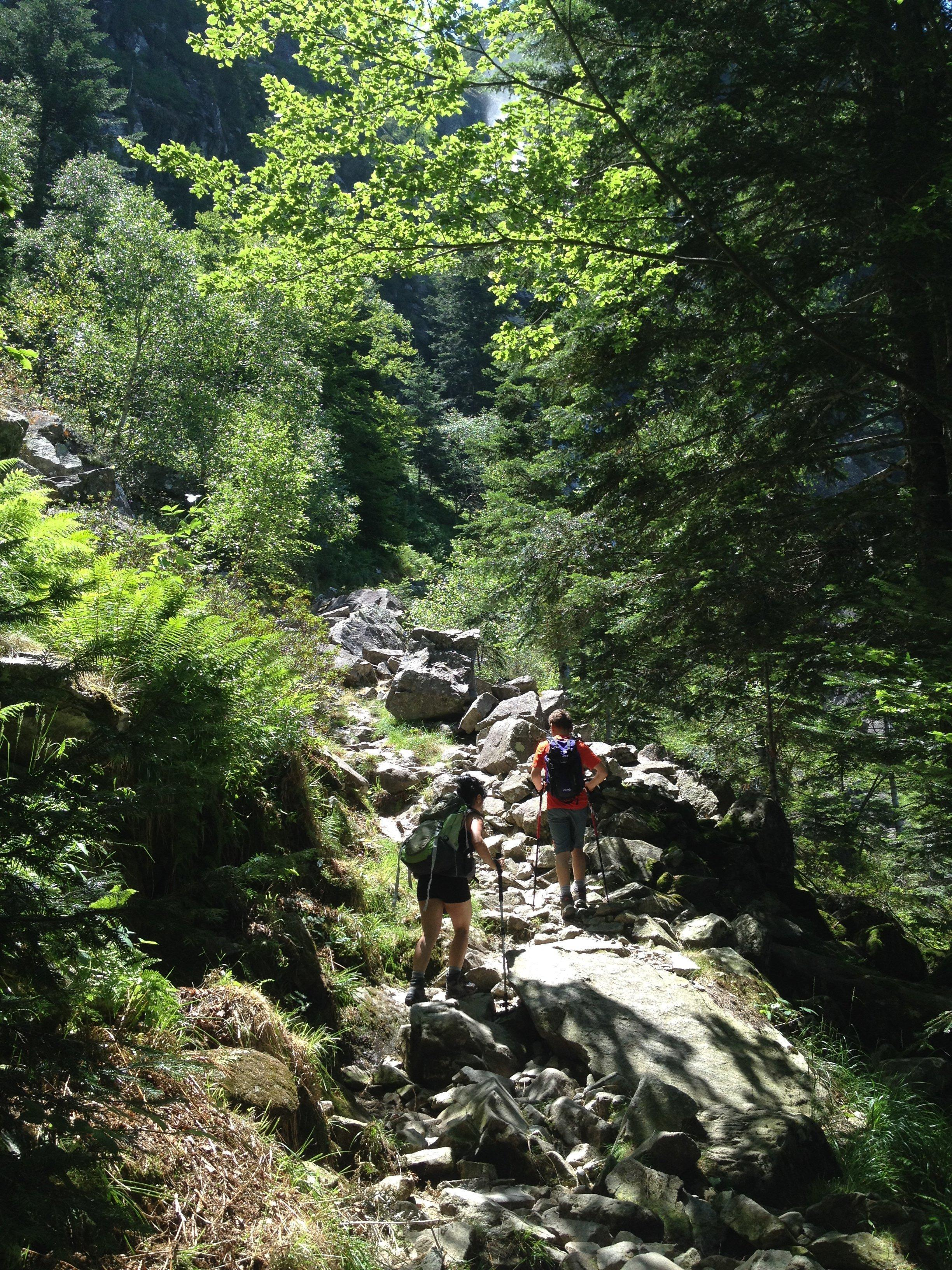 The hike up to the Cascade d'Ars is not always a simple trail