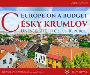 cesky krumlov a european budget destination