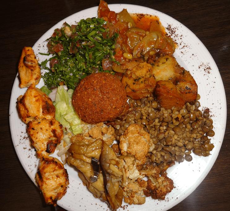 Plenty to enjoy including chicken and falafel