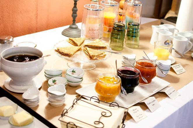 Even breakfast is local and organic at Les Orangeries
