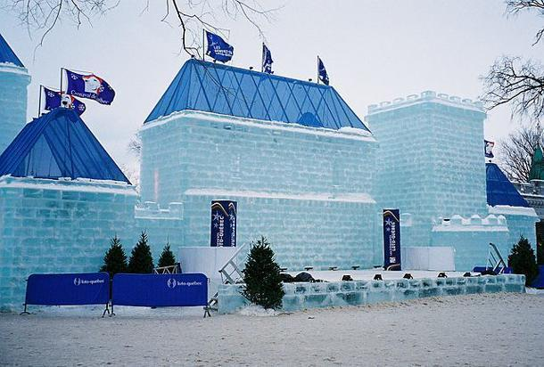 A castle of ice at Quebec's Winter Carnival