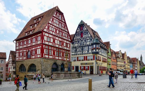 Rothenburg ob der Tauber is a colourful gem on Germany's Romantic Road