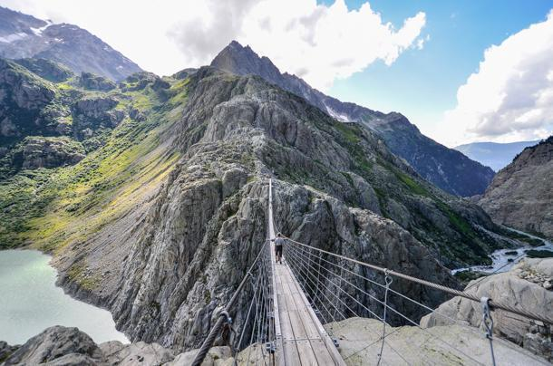 Yikes! The Trftsee is a long way down.