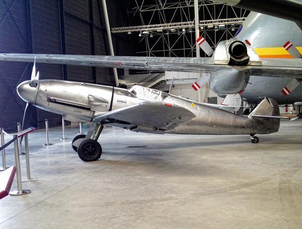Messerschmitt Bf 109 on display at the Aeroscopia Museum