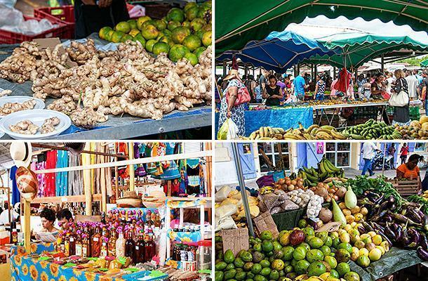 The Cayenne Market is a riot of colour and a foodie's paradise.