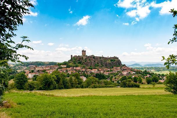 The Fortresse de Polignac dominates the rural area outside of Puy-en-Velay