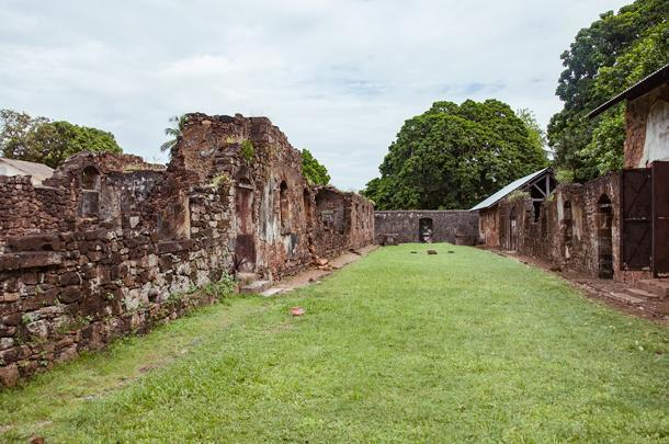 The remains of the prison courtyard
