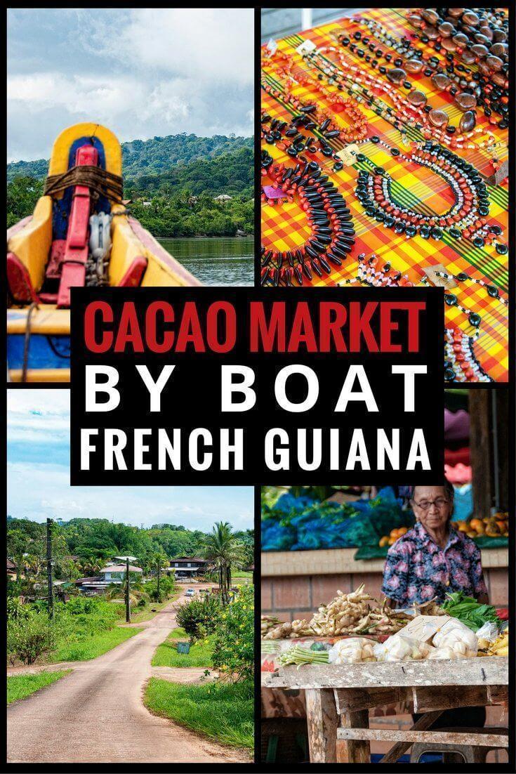 French Guiana's Cacao Market by boat