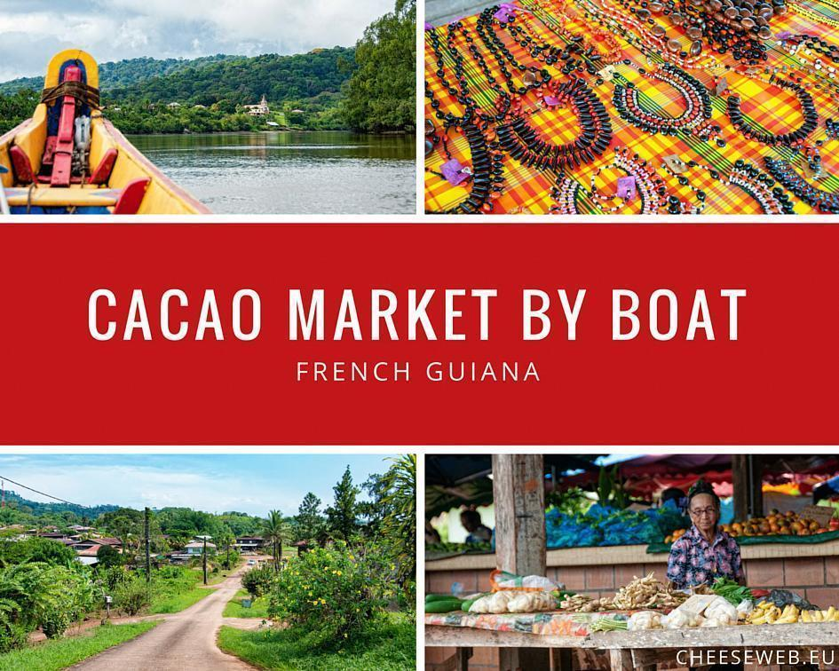 French Guiana's Cacao Market by boat