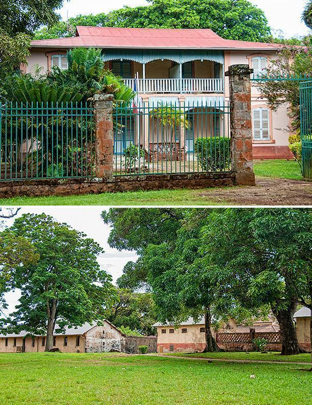 The officers quarters overlook the prison complex