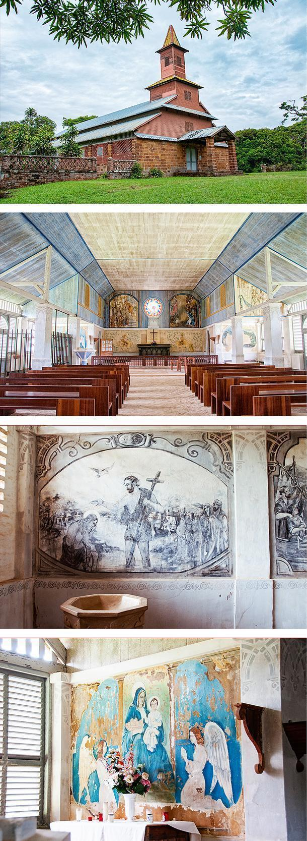 The chapel frescos are one of the highlights of the island