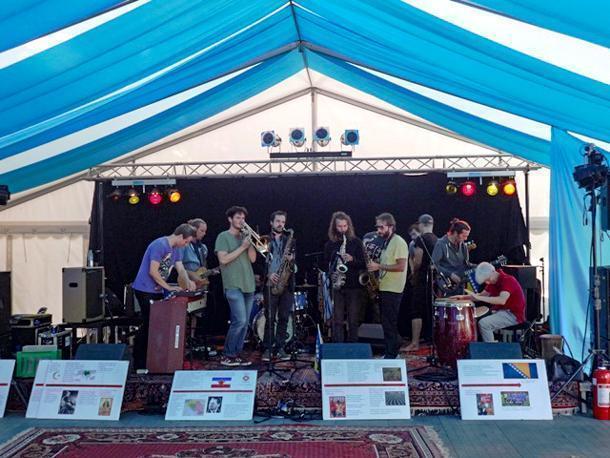 Musicians preform at the Aarhus Festival