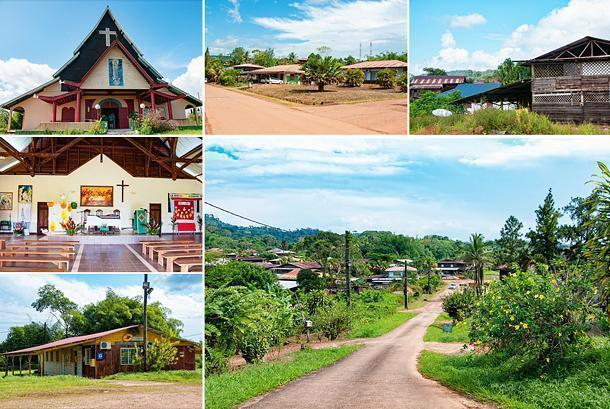 Walking through Cacao, French Guiana's Hmong village