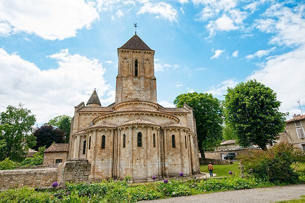 Romanesque Saint-Hilare church is on the UNESCO World Heritage list