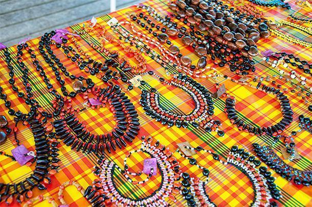 Beadwork by the Amerindian tribes make a nice souvenir