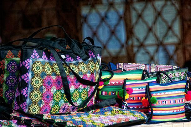 Hmong handcrafts are available at the Cacao Market