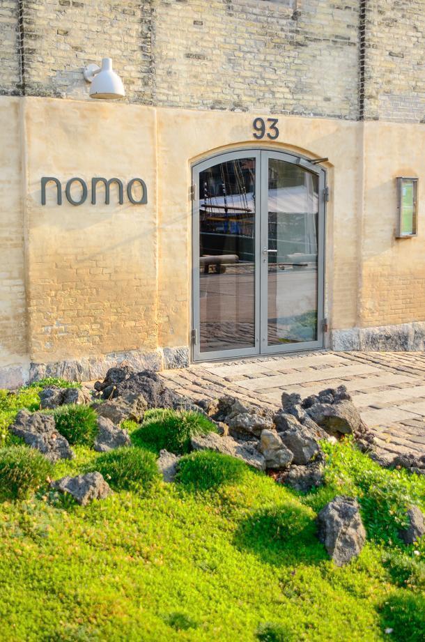 Noma's non-descript exterior, in Copenhagen, Denmark