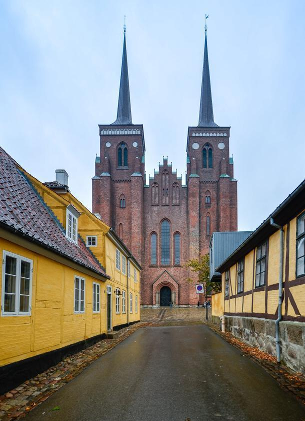 The facade of Roskilde Cathedral