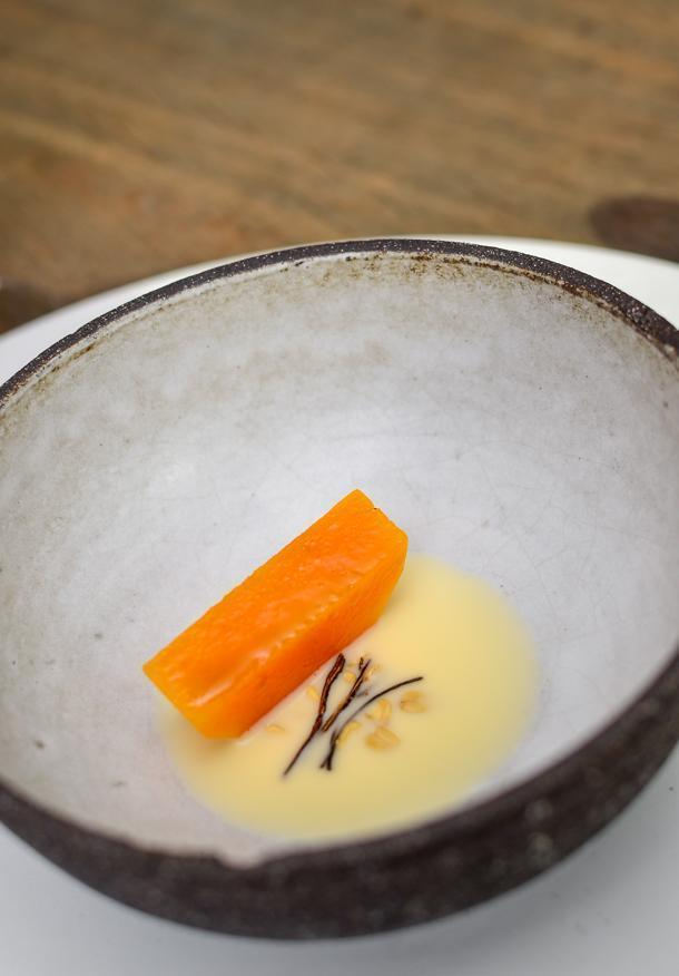 Pumpkin, beechnuts, caviar and roses