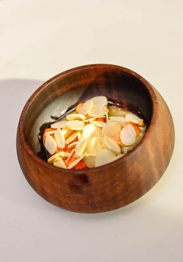 Sea urchin and hazelnuts