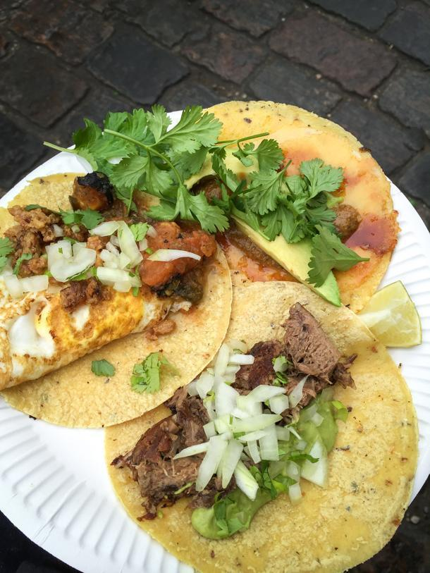 Tacos at Hija de Sanchez were recommended by the staff at Noma