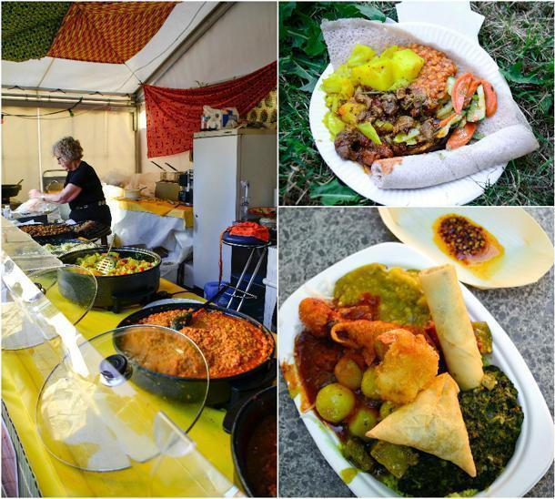 Ethiopian and Malagasy food at the Afrika Festival in Stuttgart