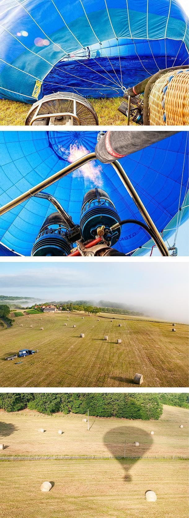 Up, up, and away! Our balloon rises into the air over the Dordogne Valley