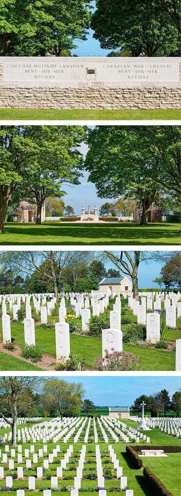 The Beny-sur-mer Cemetery, near Juno Beach, in Normandy