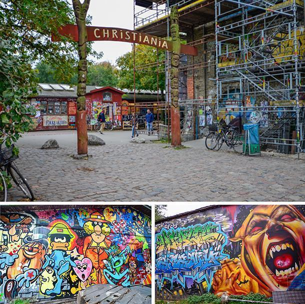 Freetown Christiania is a unique community in Copenhagen, Denmark